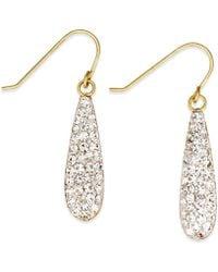 Macy's - Crystal Drop Earrings In 10k Gold - Lyst