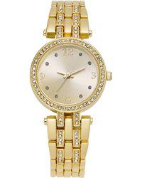 Charter Club - Women's Two-tone Crystal Bracelet Watch 33mm - Lyst