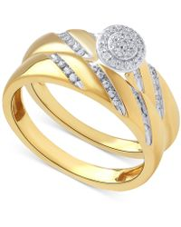 Beautiful Beginnings - Diamond Halo Ring Set In 14k Gold (1/5 Ct. T.w.) - Lyst