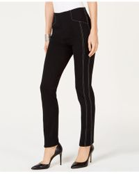 INC International Concepts - I.n.c. Contrast-stitch Straight-leg Pants, Created For Macy's - Lyst