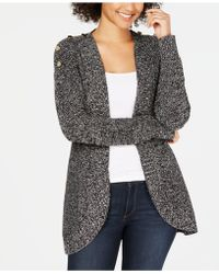 Charter Club - Petite Marled Open-front Completer Cardigan, Created For Macy's - Lyst