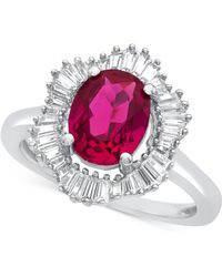 Macy's - Lab-created Ruby (1-7/8 Ct. T.w.) And White Sapphire (3/4 Ct. T.w.) Ring In Sterling Silver - Lyst