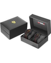 Ferrari - Red Rev Black Silicone Strap Watch 38mm & 44mm Gift Set - Lyst