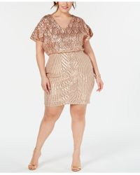 59a057d5fab Betsy   Adam - Plus Size Embellished Blouson Dress - Lyst