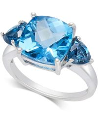 Macy's - Blue Topaz Statement Ring (4-9/10 Ct. T.w.) In Sterling Silver - Lyst