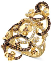Le Vian - Chocolate Quartz® And White Diamonds Ring (1-1/6 Ct. T.w.) In 14k Gold - Lyst
