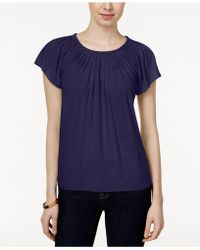 Style & Co. | . Pleated-neck Top, Only At Macy's | Lyst