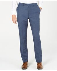 Original Penguin - Slim-fit Sharkskin Solid Suit Pants - Lyst