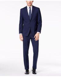 Michael Kors - Classic-fit Blue Check Suit - Lyst