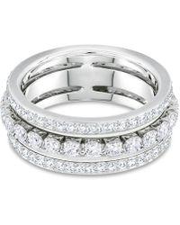 Swarovski - Crystal Triple-row Ring - Lyst