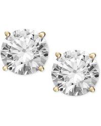 Macy's - Diamond Stud Earrings (1 Ct. T.w.) In 14k Gold Or White Gold - Lyst
