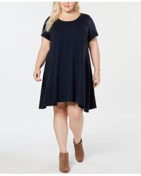 Style & Co. - Washed-cotton T-shirt Dress, Created For Macy's - Lyst