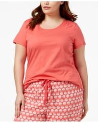 Charter Club - Plus Size Cotton Knit Pyjama Top, Created For Macy's - Lyst