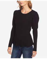 Cece - Cotton Puff-sleeve Sweater - Lyst