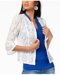 INC International Concepts - I.n.c. Lace Peplum Jacket, Created For Macy's - Lyst