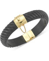 Macy's - Dyed Jadeite Bangle Bracelet In 14k Gold Over Sterling Silver - Lyst
