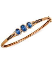 Macy's - Le Vian Chocolatier® Blueberry Tanzanite® (1-1/3 Ct. T.w.) & Diamond (1/2 Ct. T.w.) Bangle Bracelet In 14k Rose Gold - Lyst
