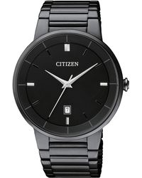 Citizen - Men's Quartz Black Ion Plated Stainless Steel Bracelet Watch 40mm Bi5017-50e - Lyst