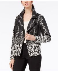 Alfani - Printed Faux-leather Moto Jacket, Created For Macy's - Lyst