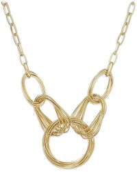 INC International Concepts - Gold-tone Multi-ring Frontal Necklace - Lyst