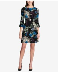 Tommy Hilfiger - Printed Bell-sleeve Dress - Lyst