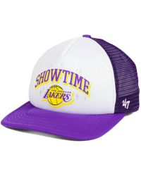 reputable site 17f60 7ef79 Mitchell   Ness Los Angeles Lakers Town Snapback Cap in Black for Men - Lyst