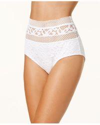 Becca - High-waist Crochet Bikini Bottoms - Lyst
