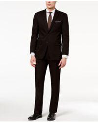 Perry Ellis - Slim-fit Stretch Black Solid Suit - Lyst