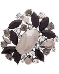 Anne Klein - Hematite-tone Multi-stone Cluster Pin, Created For Macy's - Lyst