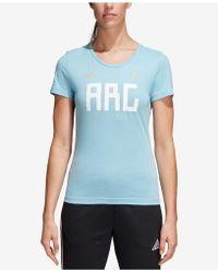 adidas - Cotton Argentina Soccer T-shirt - Lyst