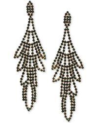 Guess - Multi-stone Swing Chandelier Earrings - Lyst