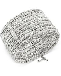 Kenneth Cole - Silver-tone Seed Bead Coil Bracelet - Lyst
