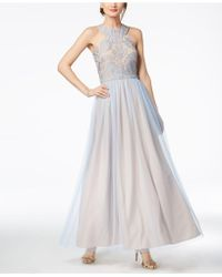 R & M Richards - Nightway Sparkle-embellished & Tulle Gown - Lyst
