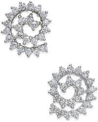 Macy's - Diamond Spiral Stud Earrings (1 Ct. T.w.) In 14k White Gold - Lyst