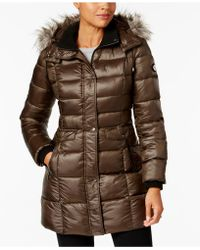 Bernardo - Faux-fur-trimmed Hooded Puffer Coat - Lyst