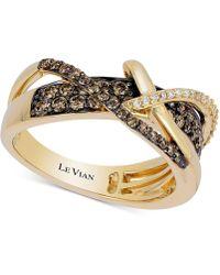 Le Vian - Chocolatier® Gladiator Weavetm Diamond Crisscross Ring (5/8 Ct. T.w.) In 14k Gold - Lyst