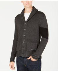 Calvin Klein - Varsity Stripe Cardigan - Lyst