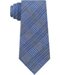 Calvin Klein - Bold Schoolboy Plaid Slim Tie - Lyst