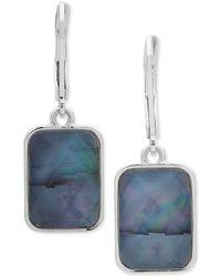 Nine West - Silver-tone Stone Drop Earrings - Lyst