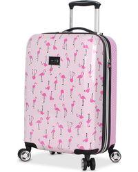 "Betsey Johnson - Flamingo Strut 20"" Hardside Carry-on Spinner Suitcase - Lyst"