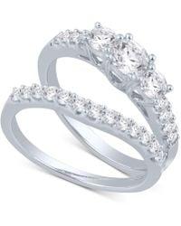 Macy's - Diamond Bridal Set (1 Ct. T.w.) In 14k White Gold - Lyst