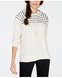Style & Co. - Striped Yoke Hoodie, Created For Macy's - Lyst