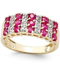 Macy's - Ruby (1-1/2 Ct. T.w.) And Diamond (1/5 Ct. T.w.) Ring In 14k Gold - Lyst