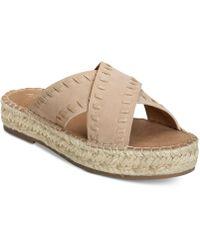 Aerosoles - Rose Gold Espadrille Slide Sandals - Lyst