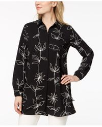 Alfani - Printed Side-tie Tunic, Created For Macy's - Lyst