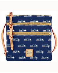 Dooney & Bourke - Seattle Seahawks Triple-zip Crossbody Bag - Lyst