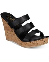 Callisto - Flure Slip-on Platform Wedge Sandals - Lyst