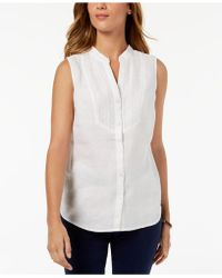 Charter Club - Linen Embroidered Shirt, Created For Macy's - Lyst