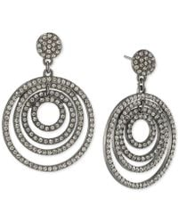 ABS By Allen Schwartz - Pavé Orbital Drop Hoop Earrings - Lyst