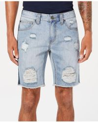 INC International Concepts - Classic-fit Ripped Denim Shorts, Created For Macy's - Lyst
